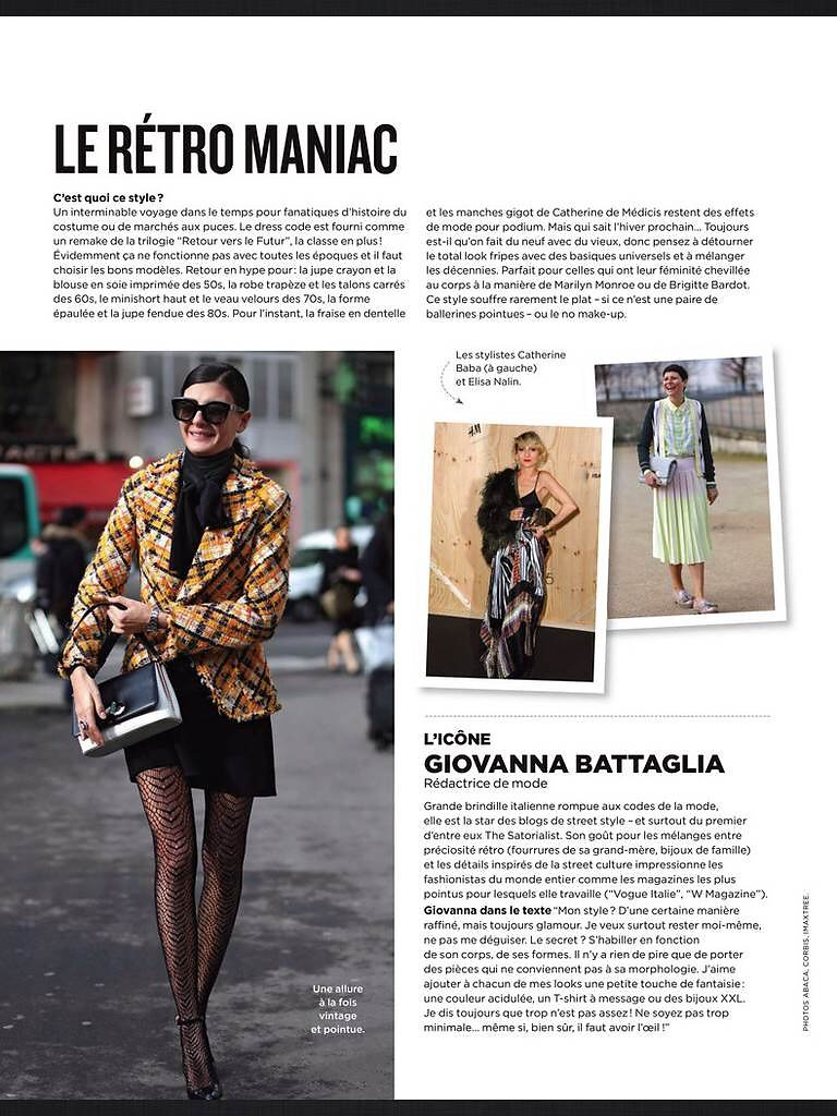 BE (print) June 2014 : picture of Giovanna Battaglia (left) and Elisa Nalin (right)