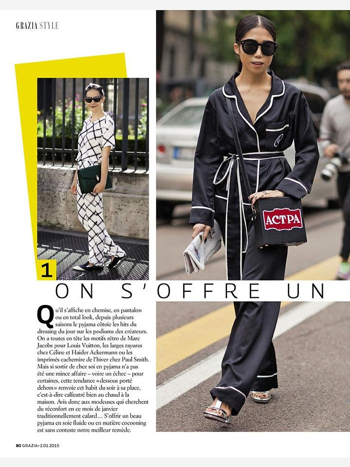 GRAZIA France (print) 20th/01/2015 : picture on the left