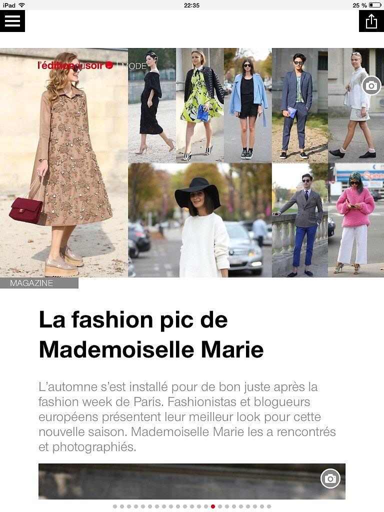 L'EDITION DU SOIR DE OUEST FRANCE (web) 20th/10/2014