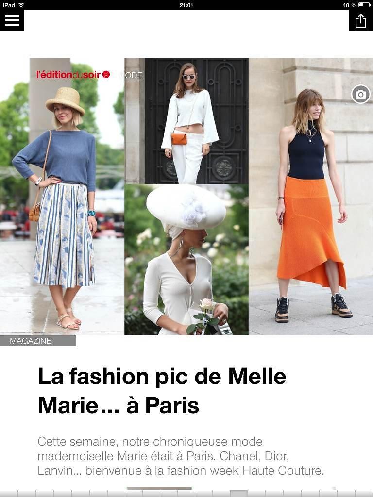 L'EDITION DU SOIR DE OUEST FRANCE (web) 11th/07/2014