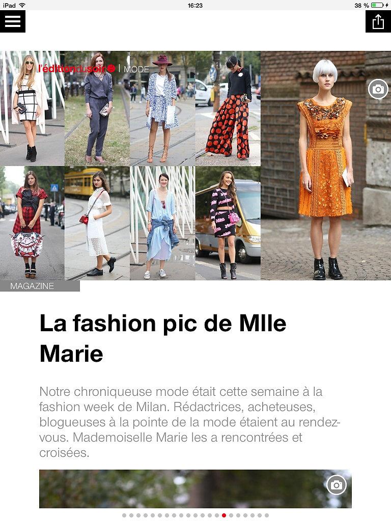L'EDITION DU SOIR DE OUEST FRANCE (web) 24th/09/2014