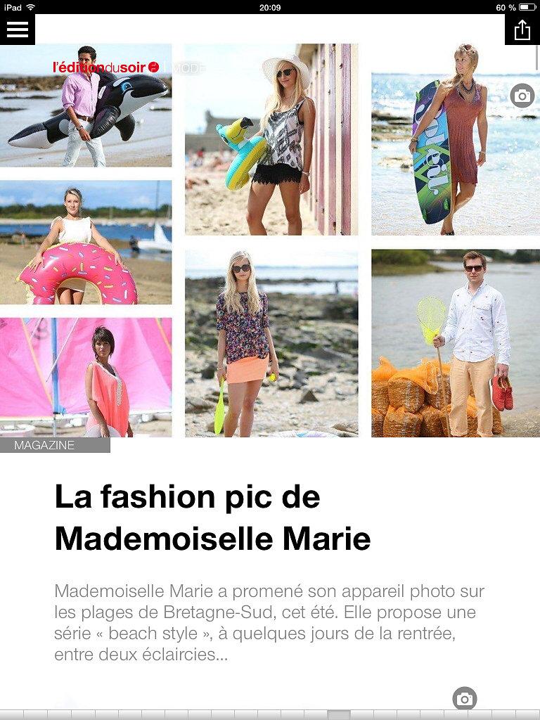 L'EDITION DU SOIR DE OUEST FRANCE (web) 26th/08/2014