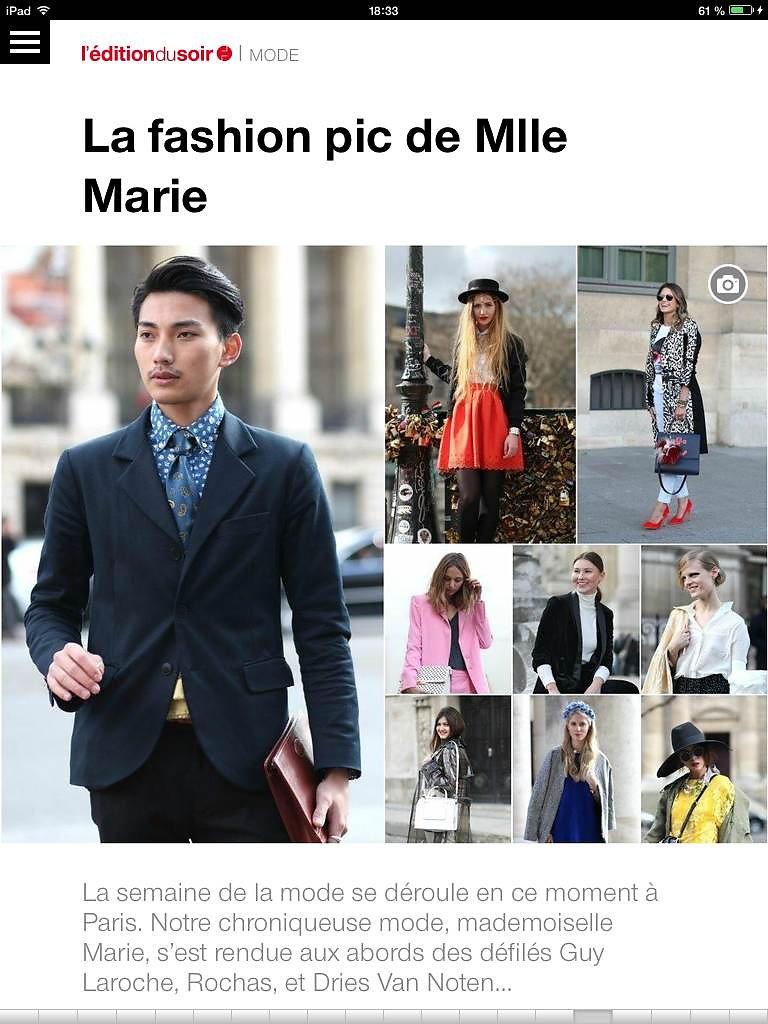L'EDITION DU SOIR DE OUEST FRANCE (web) 28th/02/2014