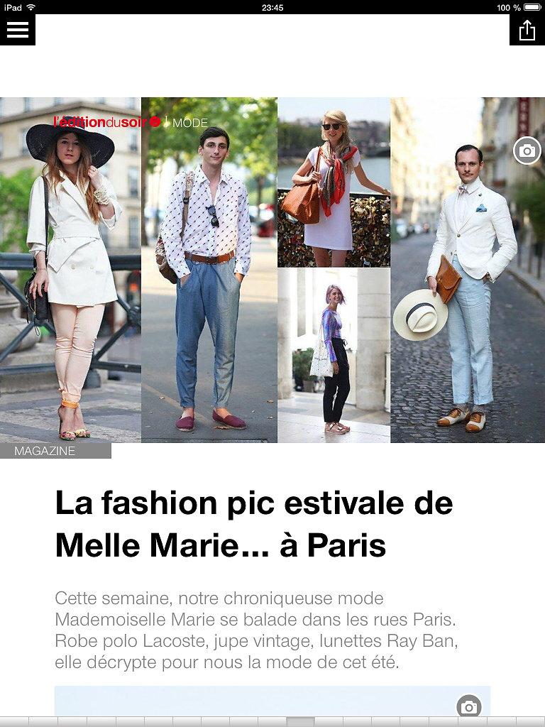 L'EDITION DU SOIR DE OUEST FRANCE (web) 28th/07/2014