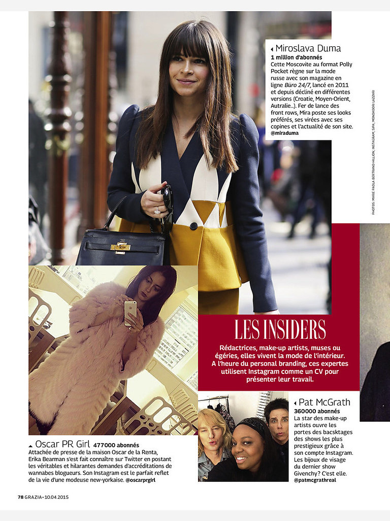 GRAZIA France (print) 10th/04/2015: pic of Miroslava Duma