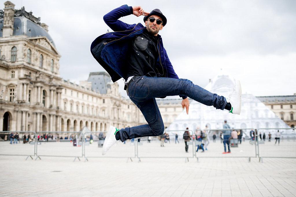 JR au Louvre (May 2016)