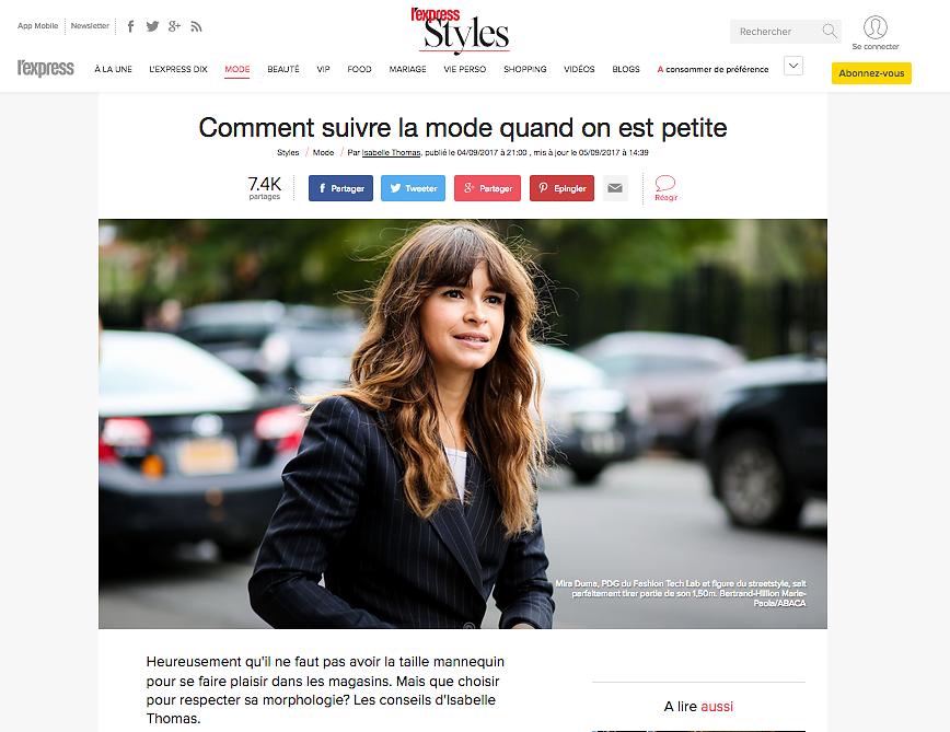 L'EXPRESS STYLES (Web) - 05/09/2017